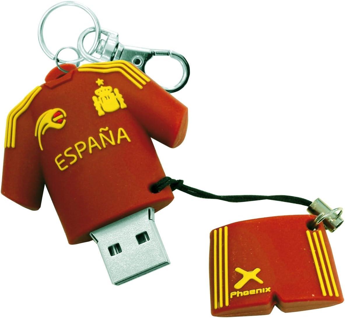 Phoenix Technologies - Memoria USB Pendrive Jetflash 16GB Muñeco llavero selección española: Amazon.es: Informática