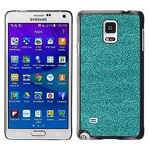 Be Good Phone Accessory // Dura Cáscara cubierta Protectora Caso Carcasa Funda de Protección para Samsung Galaxy Note 4 SM-N910 // Broken Tv Teal Texture Rough Art