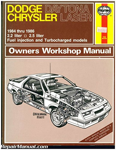Chrysler Laser Manual - UH1140 Used Haynes Daytona Chrysler Laser 1984-1986 Auto Repair Manual