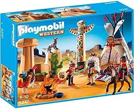 PLAYMOBIL - Campamento Indio con tótem, Set de Juego (5247 ...