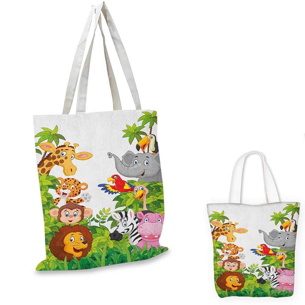 日本最大のブランド NurseryCartoon アニマルジャングルがテーマのデザイン 猿の豚 猿の豚 トラ マルチカラー 象 ライオン 馬 B07KC9ML7X スズメ マルチカラー 14