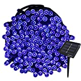 Tuokay, Solar Garden Lights, Outdoor Fairy Lights, Waterproof 72ft 22m 200 LED 8 Twinkling Modes, Decorative Lighting String Lights for Home, Gazebo, Patio, Lawn, Wedding Ornament (Blue)
