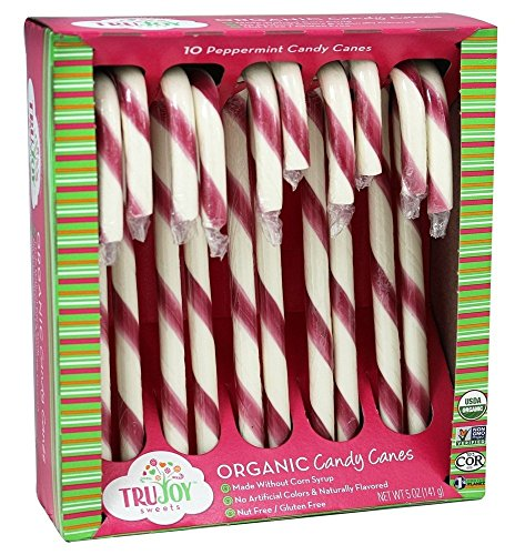 Tru Joy Sweets - Organic Candy Canes Peppermint - 10 Piece(s)(pack of 2)