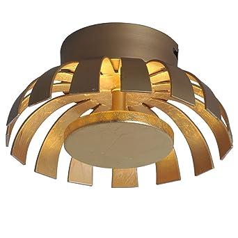 LED Design Decken Strahler Lampe Gäste Zimmer Beleuchtung Wellen Leuchte gold