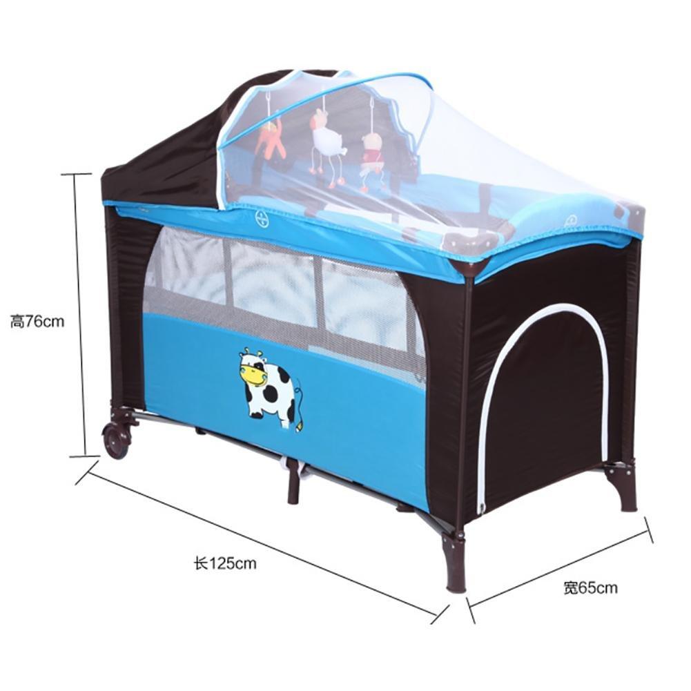 YINGER Multifunktionale Krippe Portable Spiel Klappbett Babyartikel Hohe Qualität Babybett schlafen Spiel-Bett