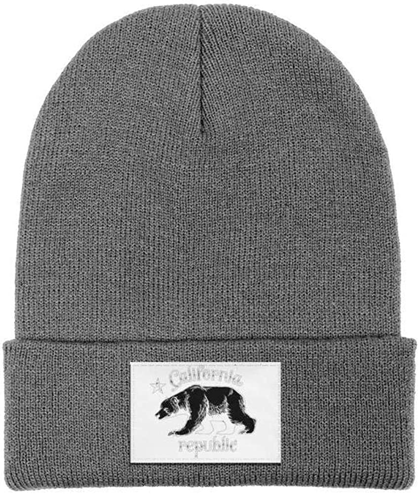 Men Slouchy Beanie Hat Cashmere Hats California Bear Clip Art Multifunction Cap