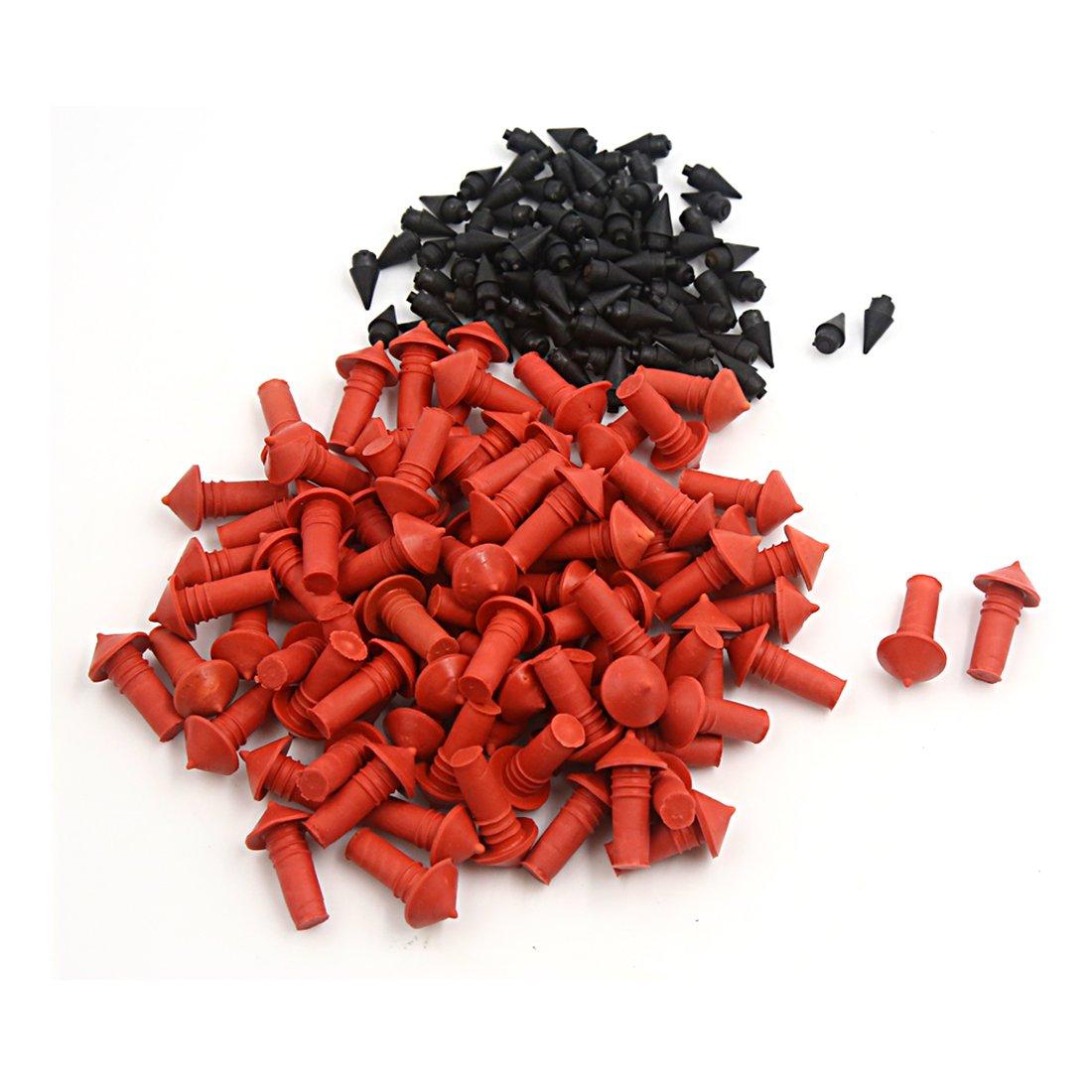 sourcingmap® 170 Pcs Universel Réparation pneus forme champignon rouge place bouchons Noir 7mm sourcing map a16072500ux0130