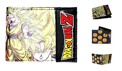 Outlander Gear Dragon Ball Z Goku Bi-fold de hombre Niños Tipo Cartera en caja