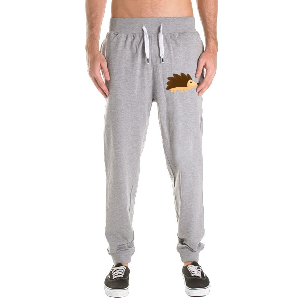 Xianjingshui Hedgehog Men's Jogger Sweatpants Drawstring Elastic Waist Outdoor Running Trousers Pants With Pockets by Xianjingshui