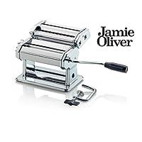 Jamie Oliver Pasta Maker - Prepare Fresh Homemade Pasta - 24 x 15,5 x 19 cm - Quick and Easy Fresh Pasta - Stainless Steel - in Chrome