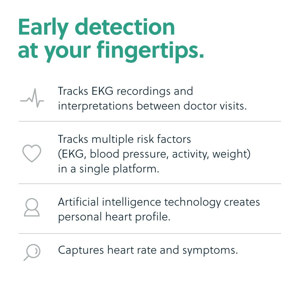 AliveCor® KardiaMobile EKG Monitor | FDA-Cleared | Wireless Personal EKG |  Works with