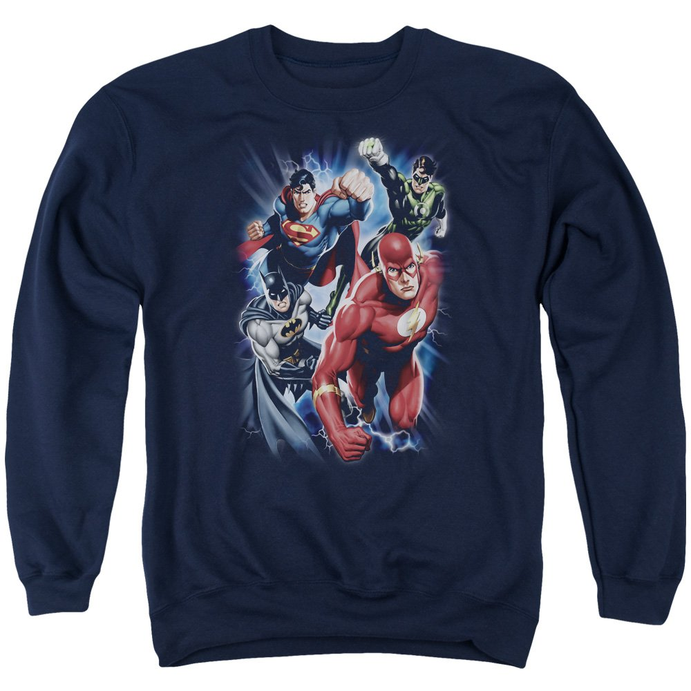 Justice League Mens Storm Chasers Sweater