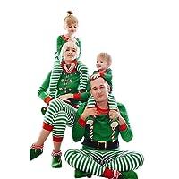 Natale Famiglia Corrispondenza Abbigliamento Natale Pigiami Natale Famiglia Pantaloni da Notte Pigiami Due Pezzi Home Abbigliamento Stripe Cotone Men Women Ragazze Ragazzo Bimba Pigiami Due Pezzi