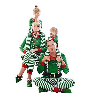 1d296e79b139d Pitashe Pyjama de Noel Famille Pyjamas Vêtements de Famille pour Homme  Femme Enfant Fille Garçon Bébé Parent-Enfant Noël Vêtements de Nuit  Ensembles Top et ...