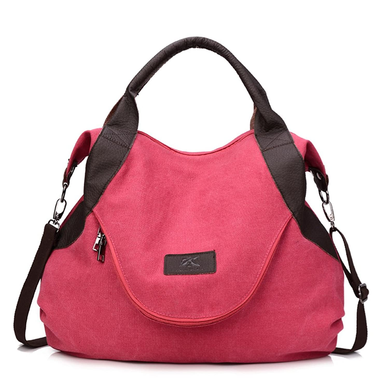 MOMO Canvas Top Handle Cross Bag /Travel Bag/Tote Handbag Shoulder Bag for Women