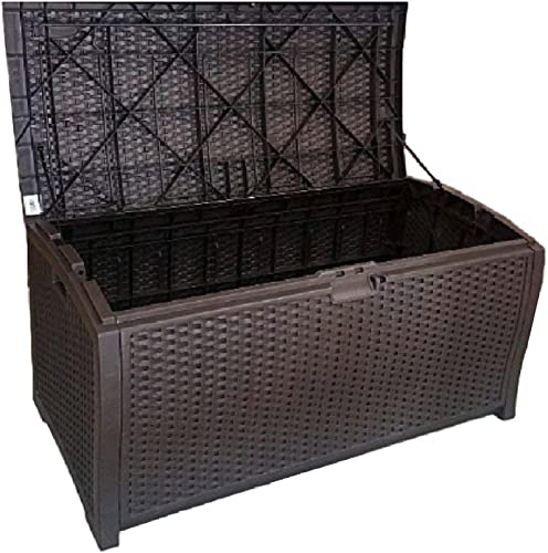 Outdoor Wicker Storage Box Patio Large Garage Kitchen Large Deck Cushions Resin Lock Bench Container Bin Shed eBook