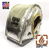 Thermal Zero Small Chrome T3 Turbo Blanket Holds 2000 degrees. MADE IN USA unlike the rest. Fits most T3 turbochargers and some small T4 turbos including Garrett, Precision, Turbonetics etc.