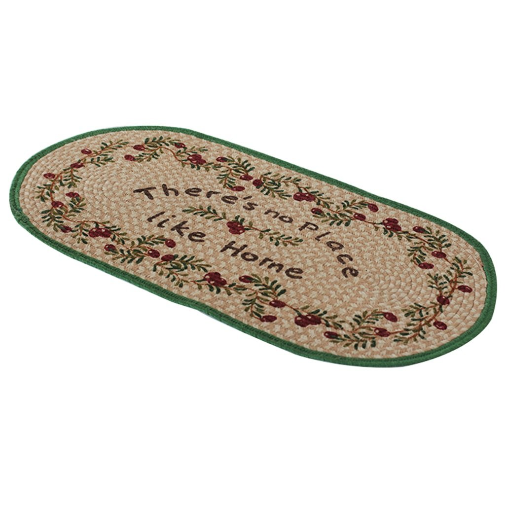 Rug Carpets Carpet Linen Green Anti-Slip Bathroom Kitchen mats Hand-Woven Household Carpet, 100 50cm Carpets
