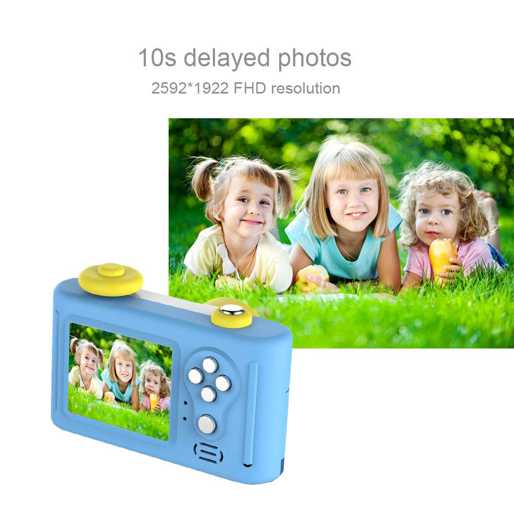 Kids Camera Digital Video Recorder, Fuvision Children Camera Recorder with 1080P FHD Video Recording Resolution and 1.5-inch Mini Screen Digital Camera for Exploring Kids Creativity(Blue) by FUVISION (Image #3)