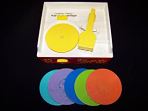 VINTAGE--Fisher Price Child's Record Player with 6 Records