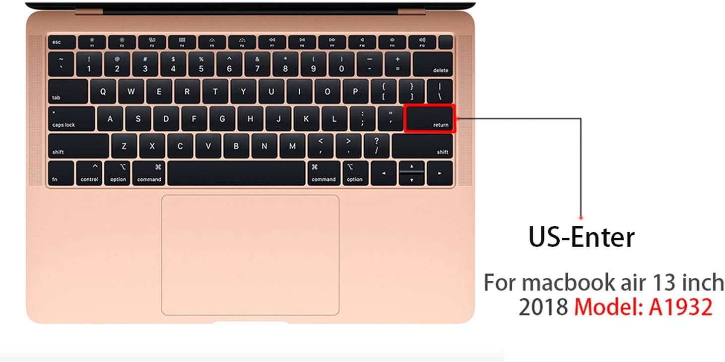 Women Style Notebook Keyboard Cover for MacBook Air 13 A1932 Silicone Laptop Cover Waterproof Keyboard Protective Film BIBIBA-in Keyboard Covers from Computer /& Office,E