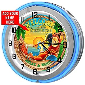 61CXfo2emIL._SS300_ Coastal Wall Clocks & Beach Wall Clocks