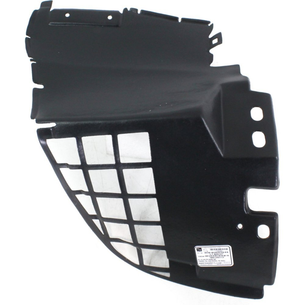 Splash Shield Front Left Side Fender Liner Plastic Front Section Convertible for SL-CLASS 90-95 Front Section