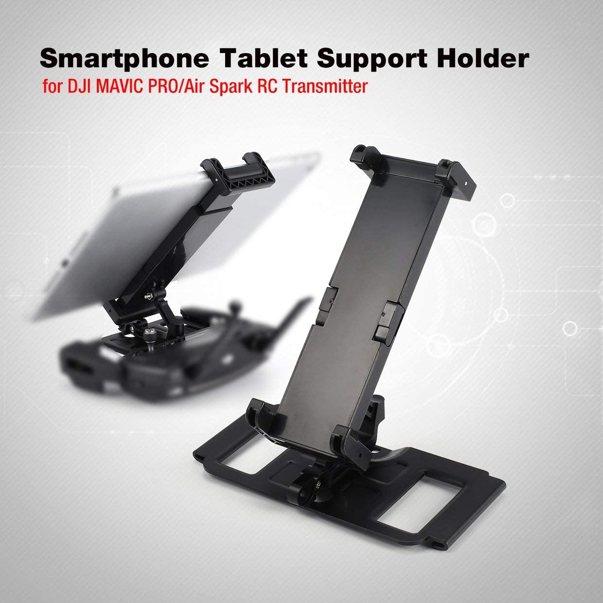 MXECO Smartphone Tablet Support Holder Adapter for dji Mavic Pro/Air Spark RC Drone Quadcopter Transmitter for 4-12in Monitor Pad: Amazon.es: Juguetes y juegos