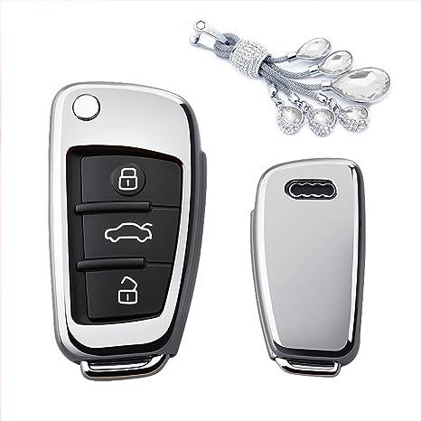 Amazon.com: Kaizen - Carcasa de TPU para llave de Audi A3 ...
