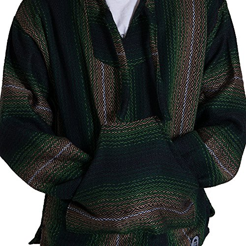 (Orizaba Original Baja Drug Rug - Green Brown Black Ombre Diamond - La Push S )