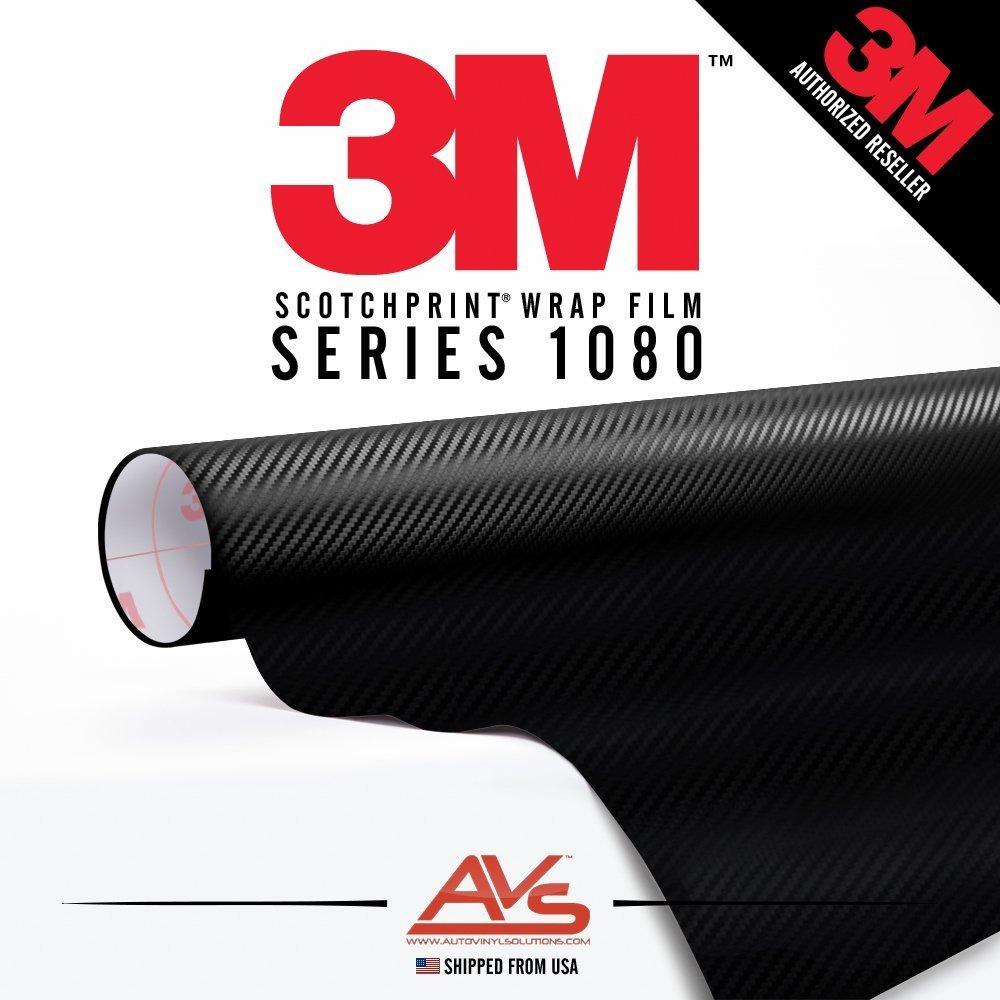 """3M Di-Noc Carbon Fiber Matte Black Vinyl Car Wrap Film Sheet Roll - CA421-1ft x 4ft (4 sq/ft) (12"""" x 48"""")"""