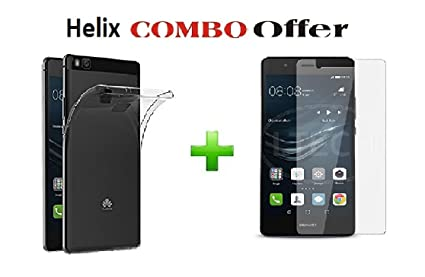 size 40 f4e57 70917 Honor 8 Smart VEN-L22 Transparent Back Cover + Honor 8 Smart VEN-L22  Tempered Glass (Combo Pack by HELIX)