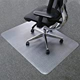 Mysuntown Carpet Chair Mats, PVC Vinyl Rectangle Chair Mat for Carpeted Floors, Transparent Desk Chair Mat - 36 X 48 inches Standard Pile Carpet, for Office and Home