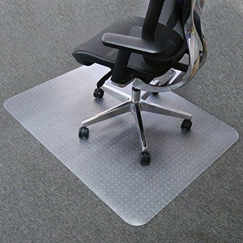 Mysuntown Carpet Chair Mats, PVC Vinyl Rectangle Chair Mat for Carpeted Floors, Transparent Desk Chair Mat - 36 X 48 inches Standard Pile Carpet, for Office and Home by mysuntown