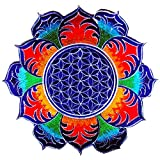 ImZauberwald Flower of Life UV Patch 20cm 8inches Sacred Mandala