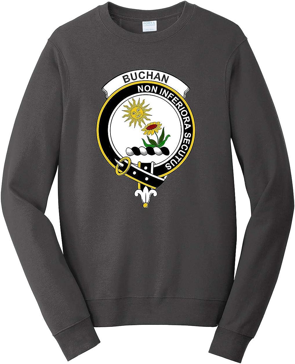 Tenacitee Mens Scottish Clan Crest Badge Buchan Sweatshirt