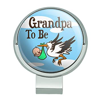 Amazon Grandpa To Be Stork Baby Golf Hat Clip With Magnetic
