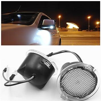 ironsky 2 x para Ford F-150 de luz LED espejo lateral Charco Espejo con luz para Edge Explorer Mondeo Taurus Auto bombilla LED lámpara car-styling: ...