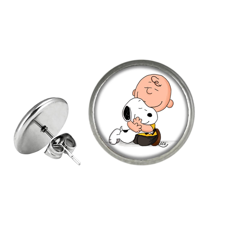 Charlie Brown Snoopy Post Stud Earrings TV Movies Classic Cartoons Superhero Logo Theme Peanuts Sally Lucy Linus Woodstock Premium Quality Detailed Cosplay Jewelry Gift Series