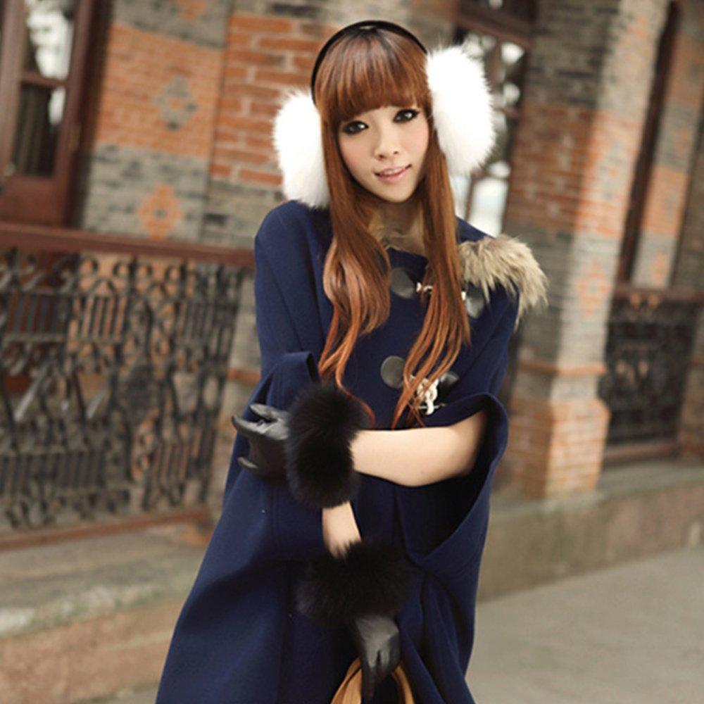 Unisex Women Men Faux Fox Fur Winter Warm Earmuff Earlap Winter Ear Muffs Warmer Muff