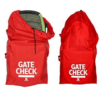 JL Childress Gate Check Bag For Standard And Double Strollers Red 2 Pack