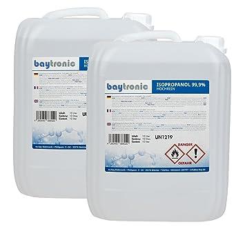 2 x Baytronic isopropanol, isopropyl alcohol IPA, 10 litre