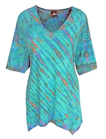 55aa76c68c9 ... Clothing Source · Plus Sizes Tunic Tops for Plus Size Women Handmade Tie  Dye Cotton