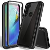 HATOSHI Moto G Power 2020 Case with Built-in Screen Protector US Version Only, Heavy Duty Protection Crystal Clear Back Armor