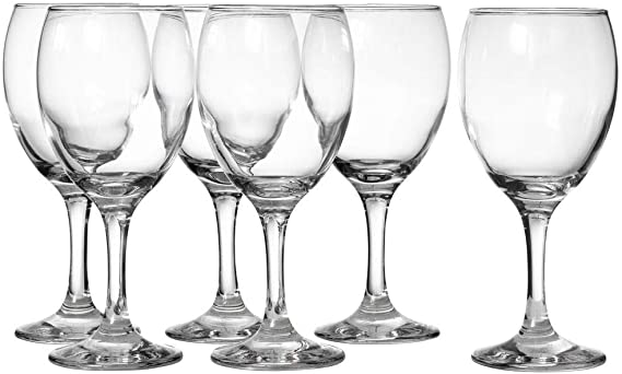 LAV 8.25 Ounce White Wine Glasses | Empire Collection – Thick and Durable – Dishwasher Safe – Perfect for Parties