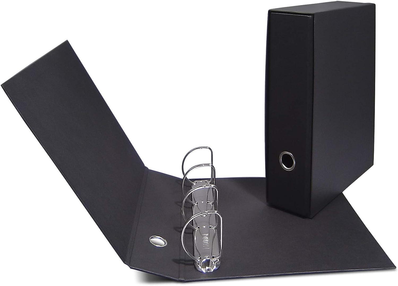 Clam - Archivador de 4 anillas, color negro, con funda: Amazon.es ...