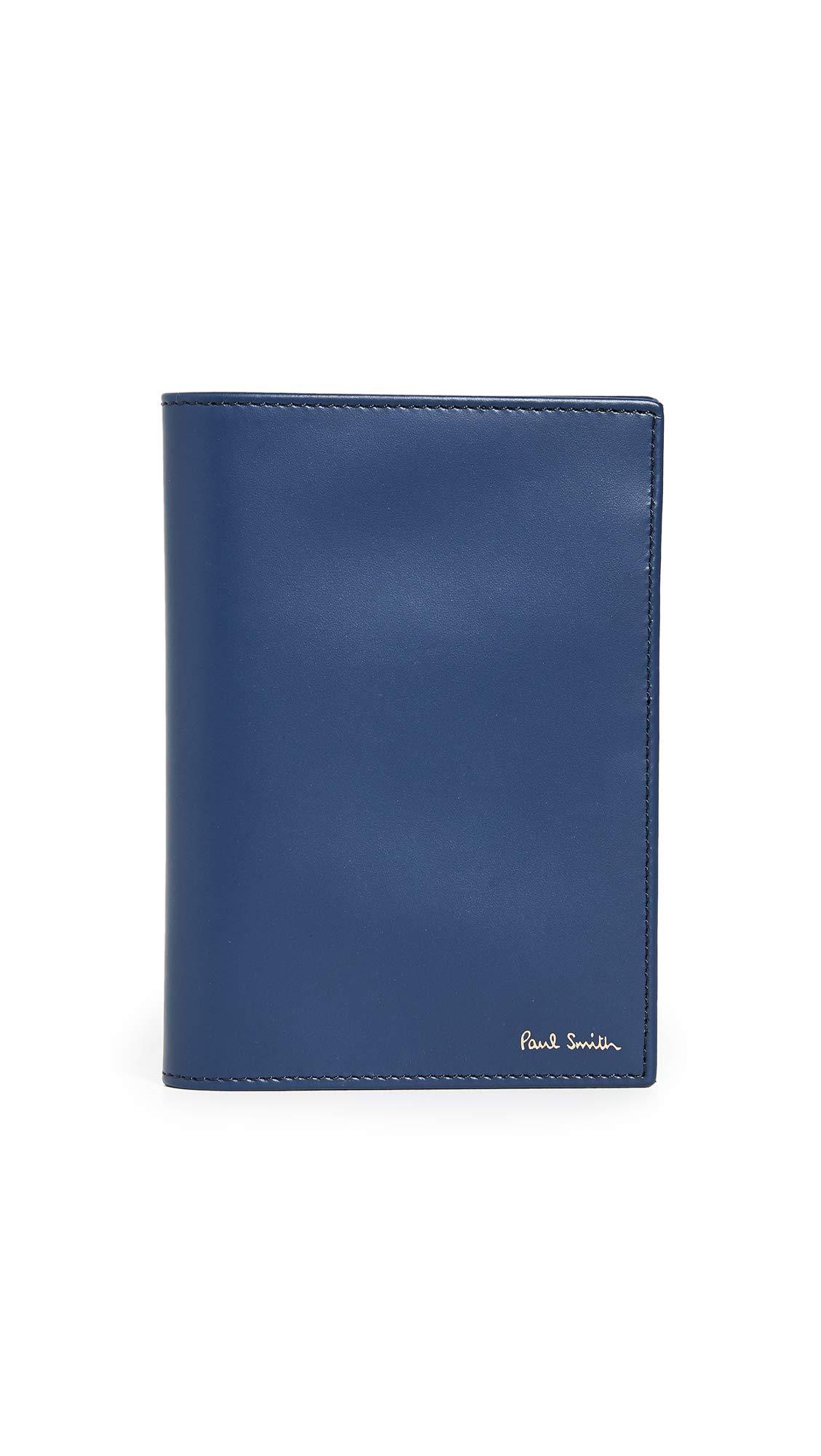 Paul Smith Men's Interior Stripe Passport Holder, Denim, One Size by Paul Smith