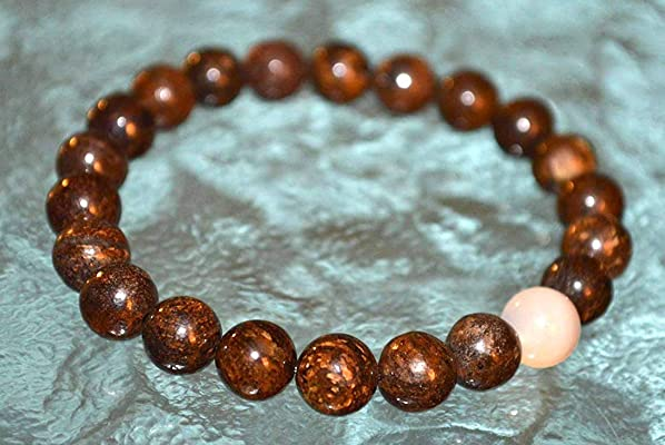 Masculine Energy, Sacral Chakra, Bronzite mala beads bracelet - Helps Overwhelmed & powerless, Psychic Protection Relationships, Sexuality Intimacy – USA Seller