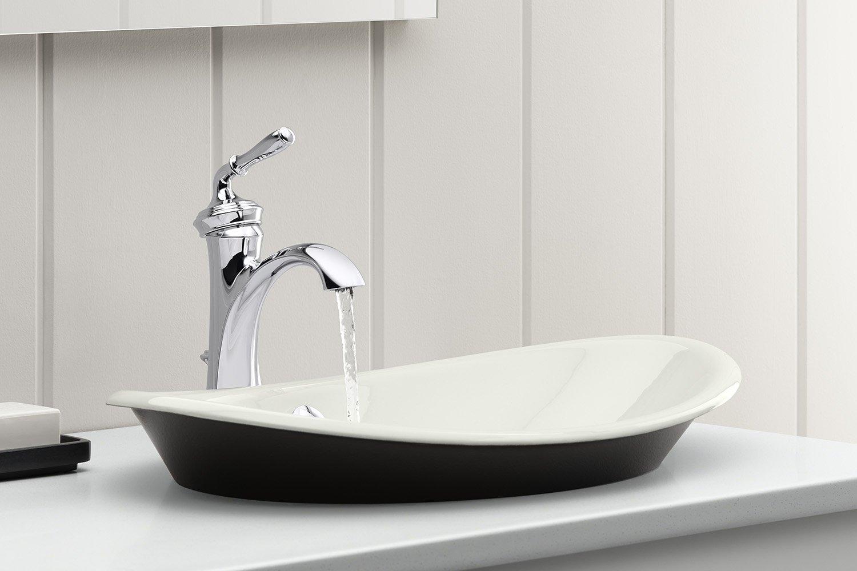 kohler k5403p5ft iron plains wading pool oval bathroom sink with iron black painted underside basalt baby skin care products amazoncom