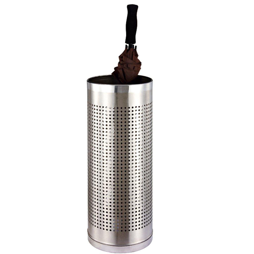 Stainless Steel Umbrella Bucket Round Long Handle Umbrella Barrels Home Folding Umbrella Storage Barrels Paint